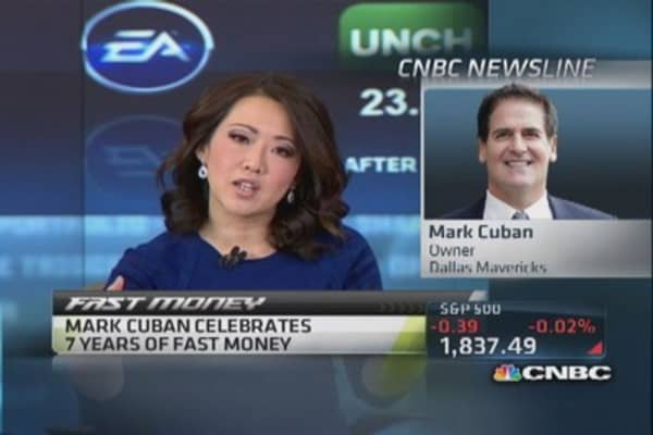 Mark Cuban wishes 'Fast Money' happy anniversary
