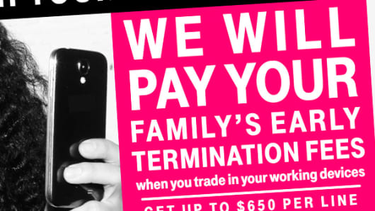 Ad from home page of T-Mobile website