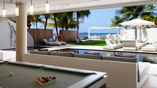 You can warm up at the Rock Star Villa at the Eden Rock in St. Barts for $15,0000 to $20,000 a night.