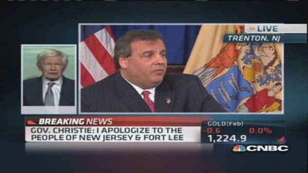 GOP official praises Christie's response to scandal