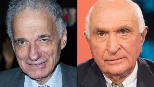 Ralph Nader (L) and Ken Langone (R)