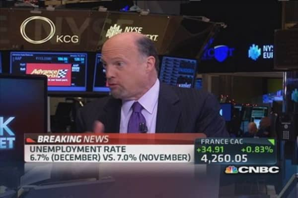 Cramer: Jobs number is real, and it's bad