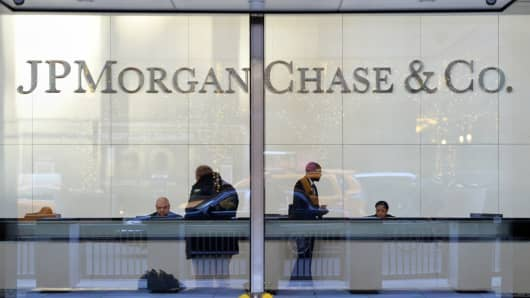 The headquarters of JP Morgan Chase on Park Avenue December 12, 2013 in New York.