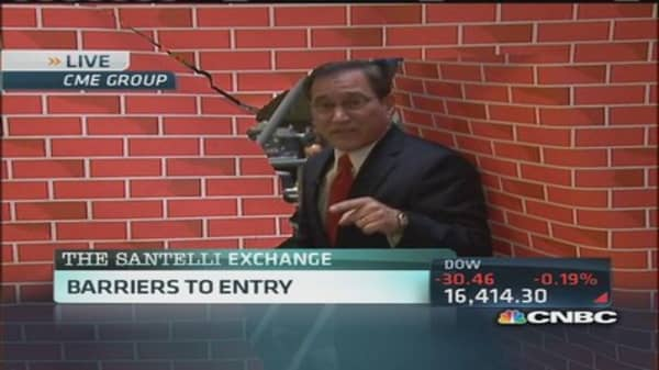 Santelli Exchange: Barriers to entry