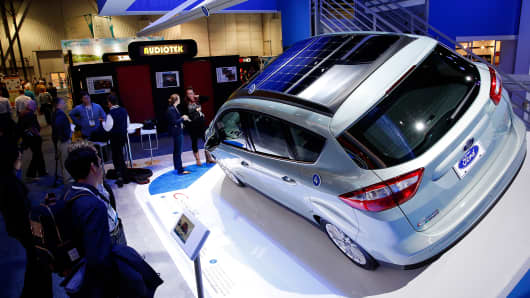 The Ford C-MAX Energi Concept, shown at the 2014 Consumer Electronics Show in Las Vegas.
