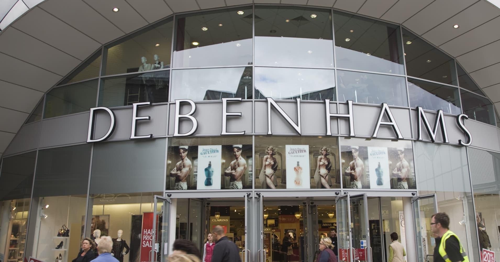 British retailer Debenhams falls into administration