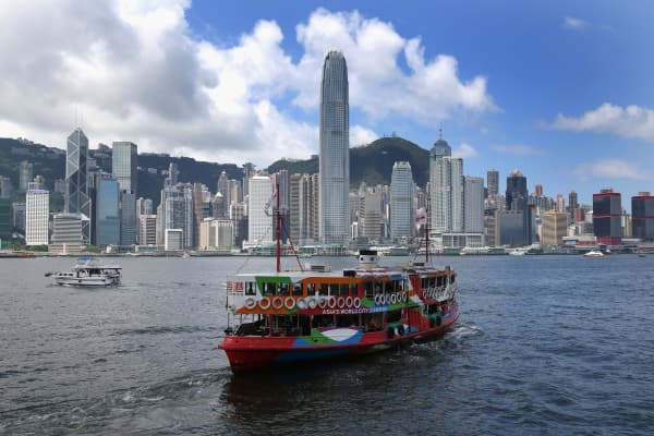 Hong Kong marks 20 years after the city's return to China from Britain.