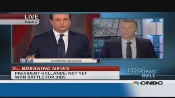 Hollande's 'pro-business' stance