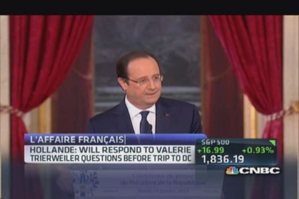 France's Hollande: Private matters should remain private