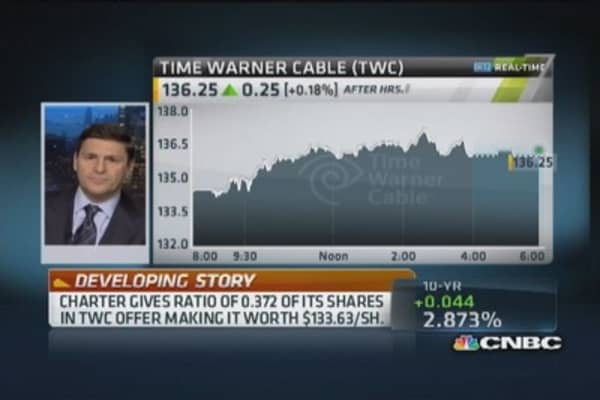 Charter's investor call to discuss TWC bid