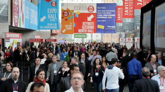 The National Retail Federation's 103rd Annual Convention and Expo at the Jacob K. Javits Center in New York on Tuesday.