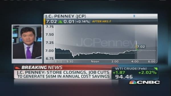 JC Penney to close 33 stores