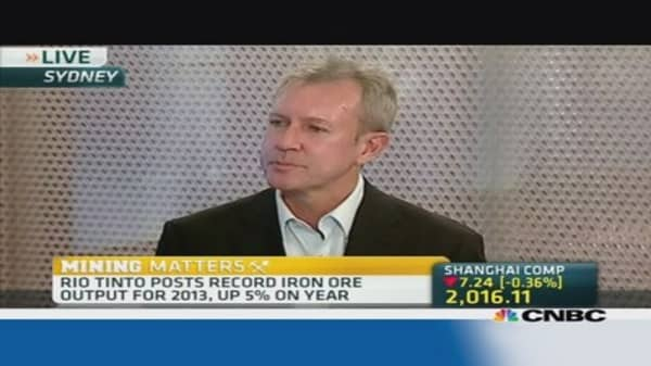 How did Rio Tinto output exceed expectations?