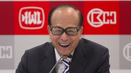 Li Ka-shing, chairman of Cheung Kong (Holdings) Ltd.