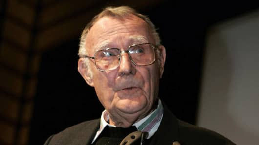 The founder of Swedish do-it-yourself furniture giant Ikea, Ingvar Kamprad.