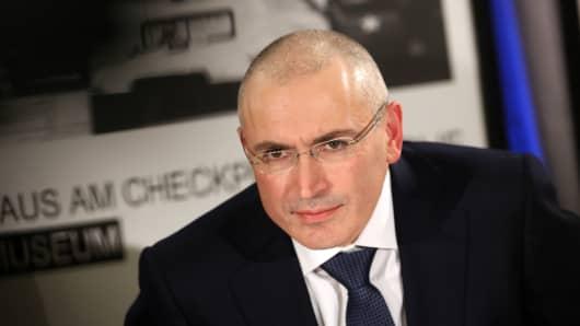 Mikhail Khodorkovsky, former  chairman of Yukos oil company.