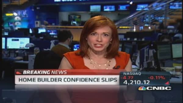Home builder confidence slips to 56