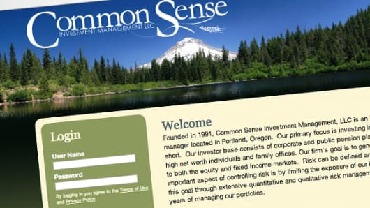 Common Sense Investment Management home page