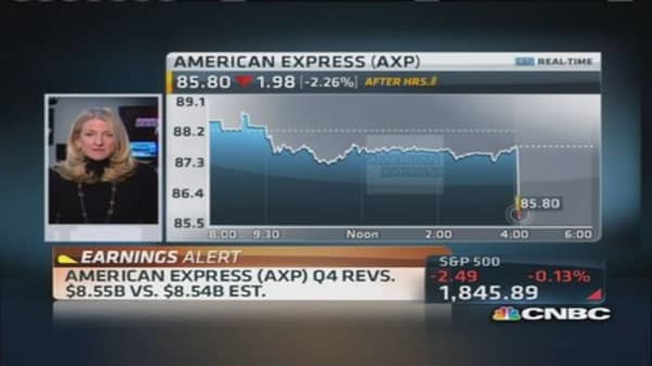 American Express reports Q4 earnings