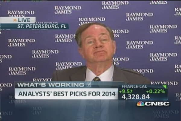 Analysts' top stock picks for 2014