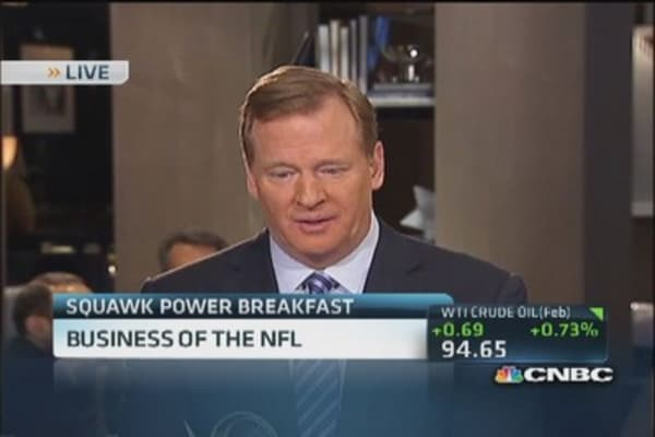 In the huddle with NFL Commissioner Goodell