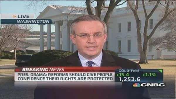 President Obama outlines NSA reforms