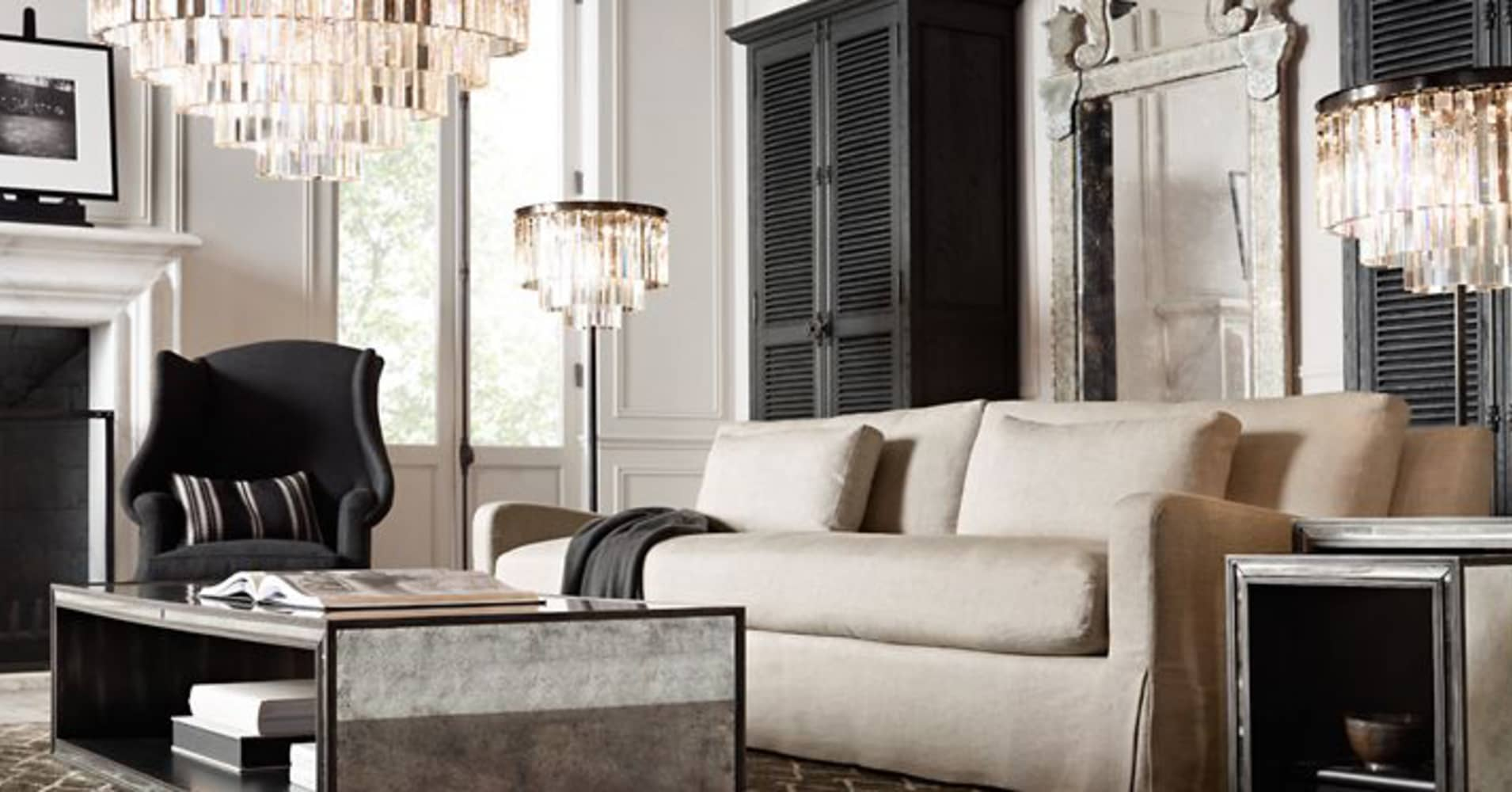 Rh skyrockets 40 as furniture retailer raises full year for Restoration hardware furniture manufacturer