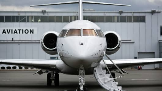 A file photo of a NetJets plane