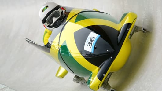 Jamaican bobsled team to compete at the Sochi Winter Olympics.