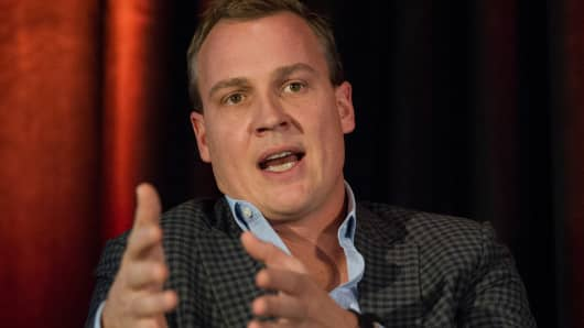 Rich Riley, chief executive officer at Shazam Entertainment Ltd., speaks during the Open Mobile Summit in San Francisco, on Wednesday, Nov. 13, 2013.
