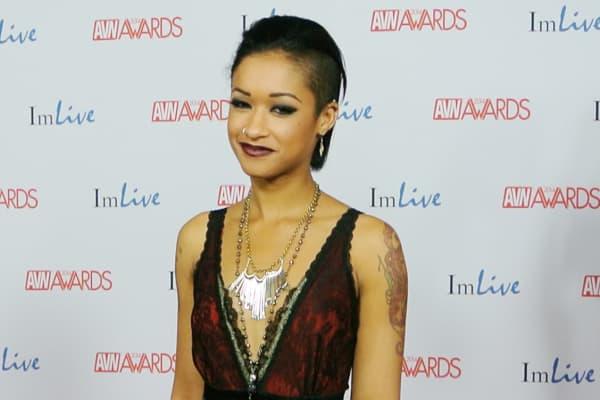 Skin Diamond on the red carpet at the 2014 AVN Awards in Las Vegas.