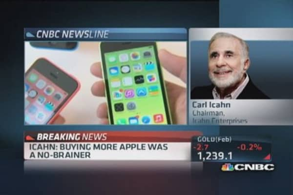 Icahn: Don't have to be genius to see Apple's value