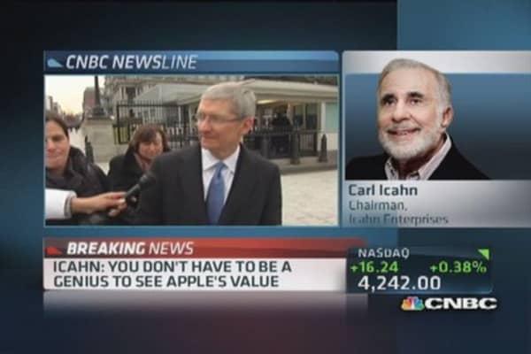 Icahn: Apple management great; I criticize board