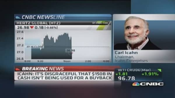 Icahn: I never said I own Hertz