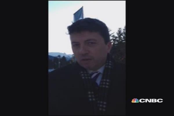 Jersey freezes, Davos heats up