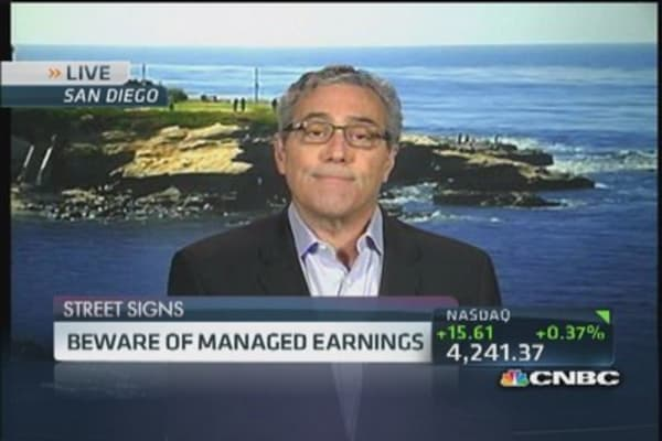 Beware of managed earnings