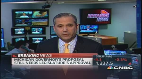 Michigan Gov. proposes bankruptcy settlement