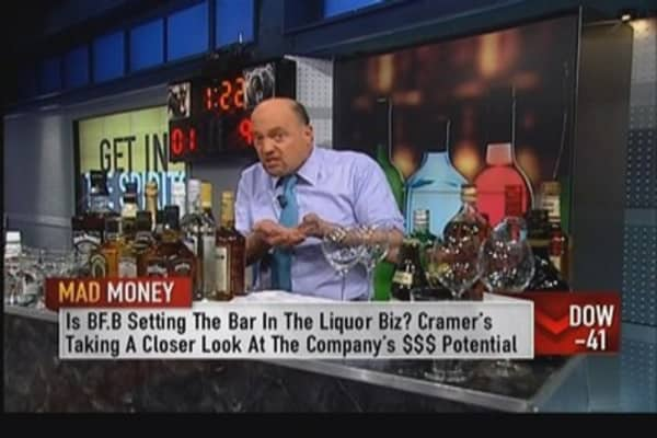 Cramer serves up a cold one: Alcohol biz on fire