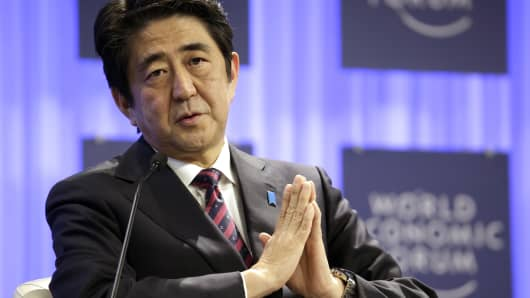 Praying for peace? Shinzo Abe, Japan's prime minister