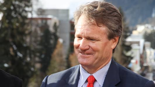 Brian Moynihan, president and CEO of Bank of America at 2014 WEF in Davos, Switzerland.