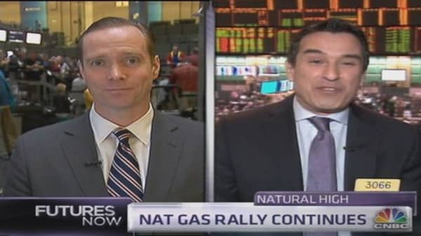 How high can nat gas climb?