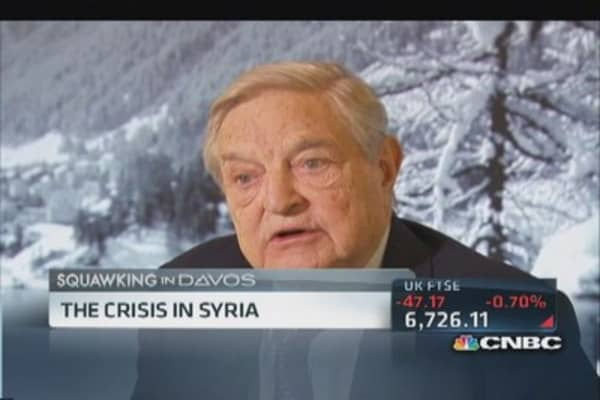 Soros on crisis in Syria