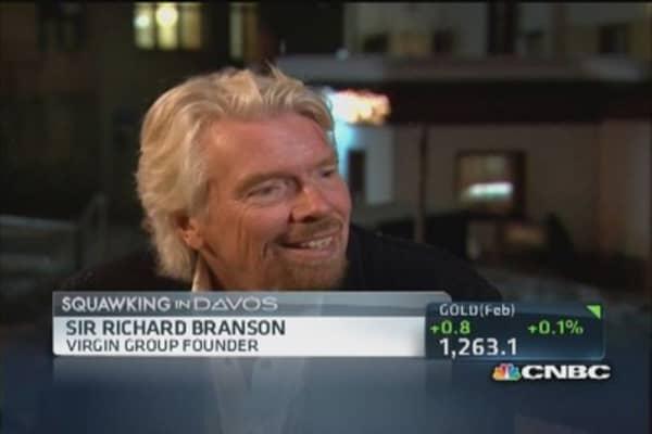 Sir Richard presents 'Plan B' idea at Davos