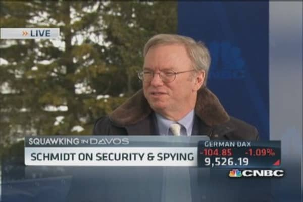 We did not know about NSA spying program: Schmidt
