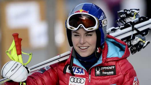 Downhill skier Lindsey Vonn