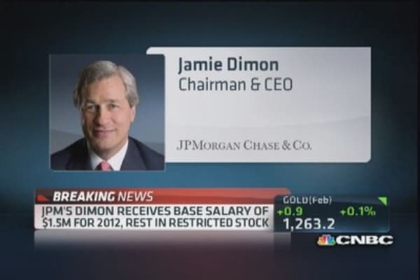 JPM's Dimon well compensated