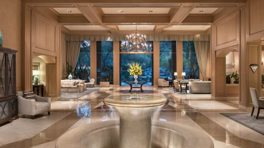 The lobby at The Canyon Suites at The Phoenician in Scottsdale, Ariz.