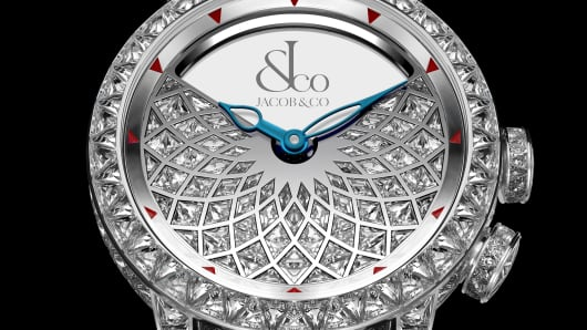 "The ""Caligula"" diamond watch from Jacob & Co.  Price: $1,600,000."