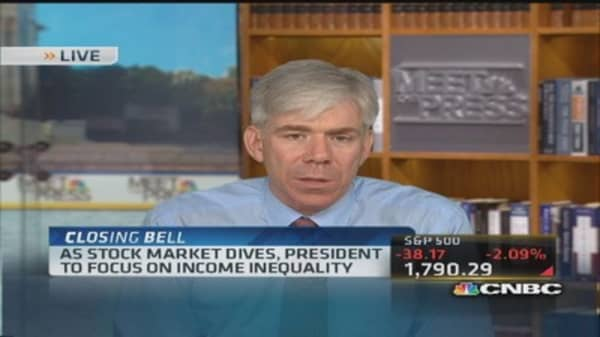 David Gregory: Income inequality big argument for Obama