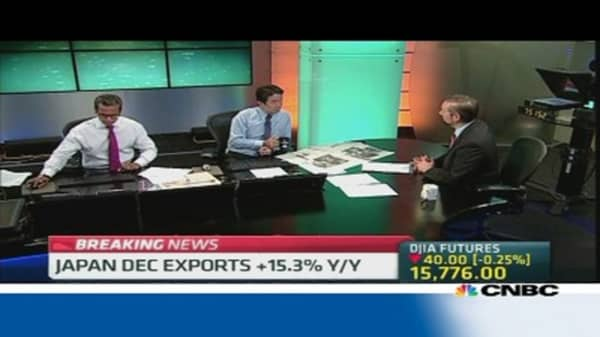 Japan logs record annual trade deficit in 2013